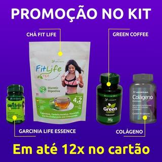 Kit Garcínia,colágeno, Chá E Green Coffee ( Life Essence )