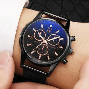 Relógio Masculino Geneva Social Pulseira De Couro