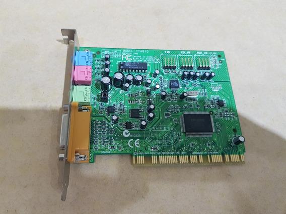 Placa Audio Pci Creative Sound Blaster Sb Model Ct4810 Som