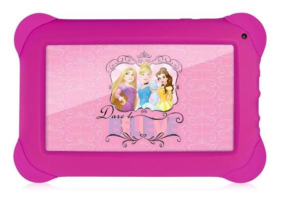 Tablet De Criança Infantil Menina Princesas Disney Rosa Kids