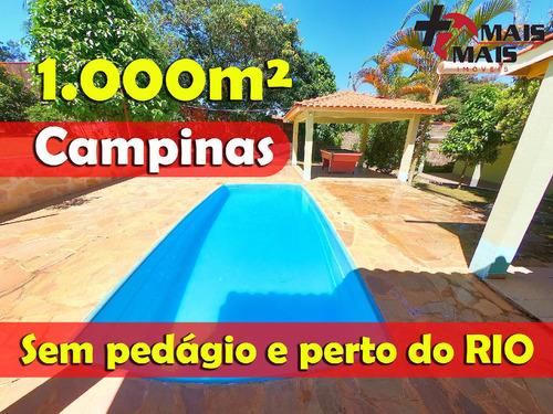 Chácara Com Piscina Perto Do Rio Atibaia Sem Pedágio Campinas Recanto Dos D - Dourado450