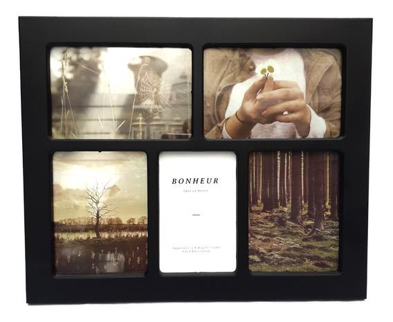 Portaretrato Multiple X 5 Fotos Color Negro - Sheshu Home