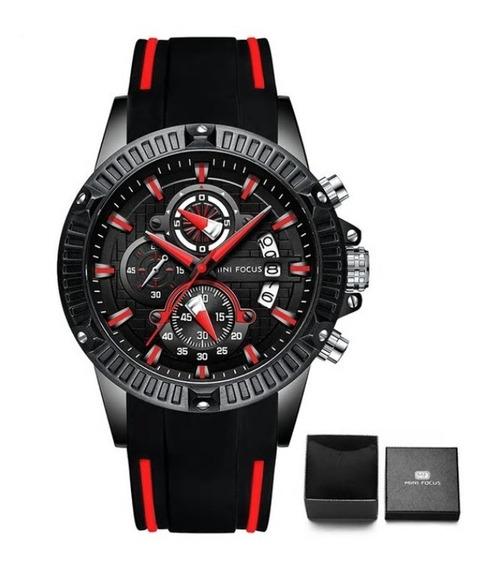 Relógio Masculino Mini Focus Esporte Luxo Cronógrafo Barato