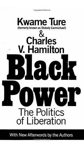 Imagen 1 de 1 de Poder Negro: La Política De Liberación.