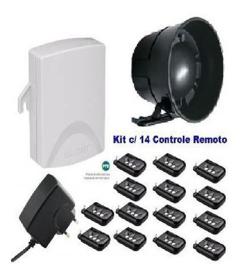 Sirene Acionada Via Controle Remoto 03 Kit C/ 14 Controles