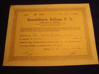Accion Chilena Inmobiliaria Italiana S.a., 1981