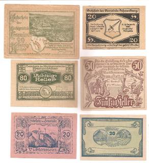 Billetes De Emergencia Notgeld - Europa 1914 Al 21 Precio $