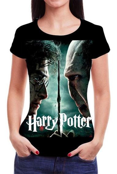 Blusas Femininas Harry Potter Camiseta Roupas Blusa