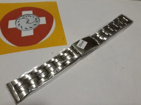 Pulseira Aço Inox 20mm - Antialergica - Serve Varios