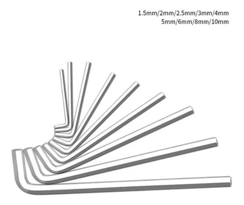 Imagem 1 de 5 de Kit Jogo De Chaves Allen Extra Longa T10 A T50 9 Peças
