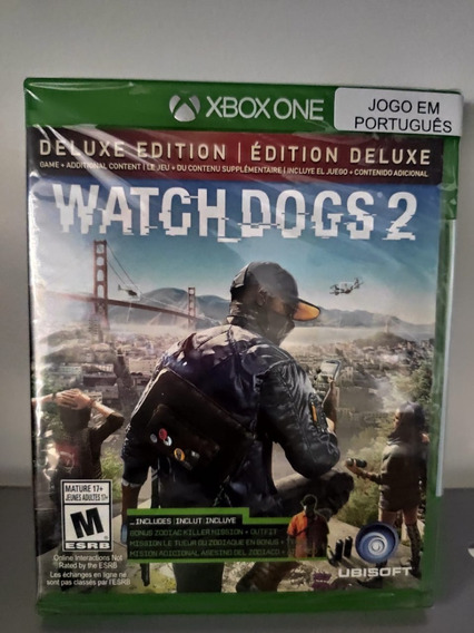 Watch Dogs 2 Deluxe Edition Xbox One Mídia Física Novo Pt Br