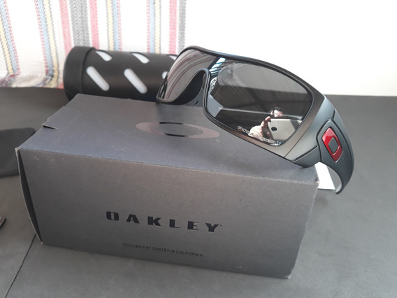 Óculos Oakley Batwolf Preto Polido/vermelho Iridium - Novo