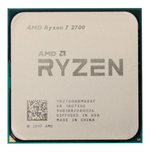 Processador Gamer Amd Ryzen 7 2700  De 8 N16 Th Am4 S/cooler
