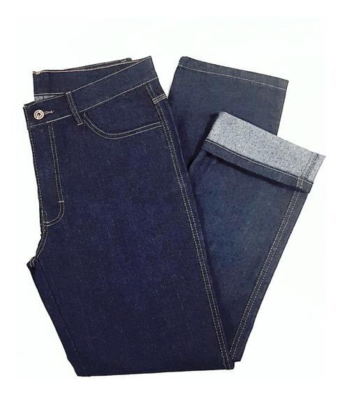 4 Calça Jeans Reforçado Masculina Básica Trabalho Serviço