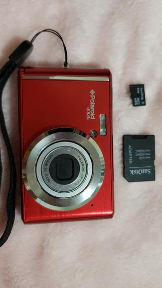 Câmera Digital Polaroid Ie826 (c/ Case E Cartão Sd)