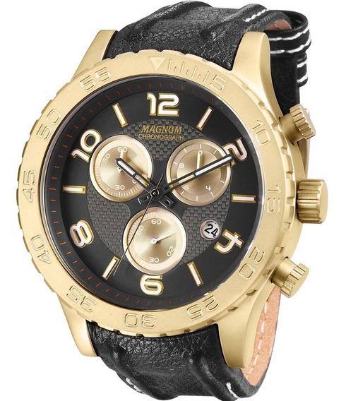 Relógio Masculino Magnum Cronograph Ma33504k Caixa Aço Rose