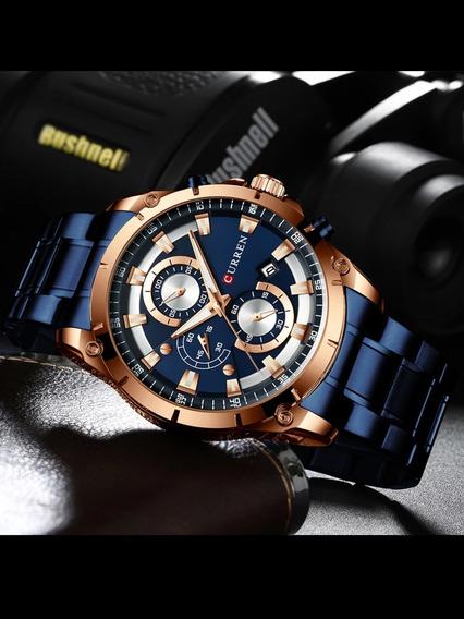 Relógio Masculino Curren Esport De Luxo Quartzo Modelo 8329