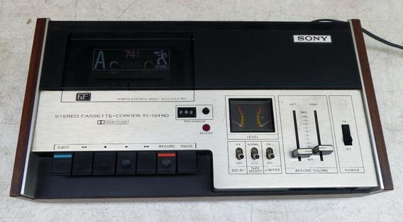 Tape Deck Stereo Cassette Corder Sony Tc 134 Sd Funcionando