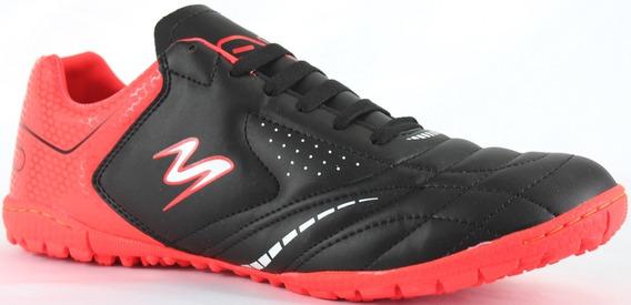 Tenis Futbol Rapido Modelo 428 Negro/ Rojo/ Blanco