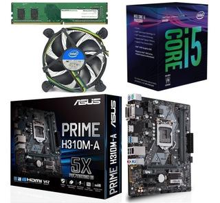 Combo Board Asus H310 Procesador Core I5 8400 Ddr4 16gb Pc
