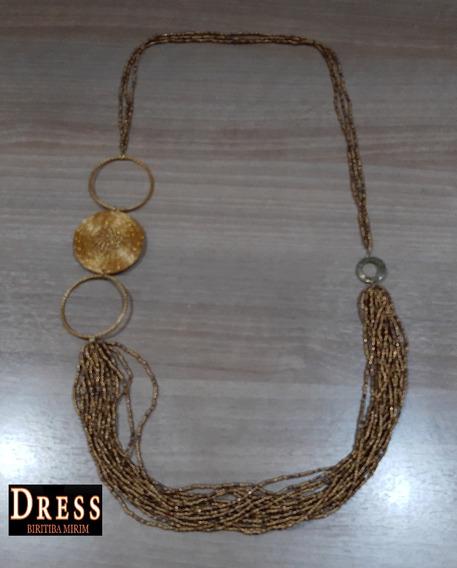 Colar Capim Dourado Capim & Cia Banhado A Ouro Dress 04