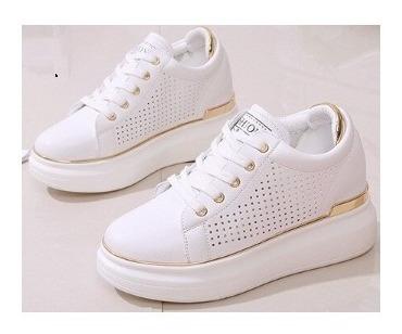 Tenis Feminino Branco Gold