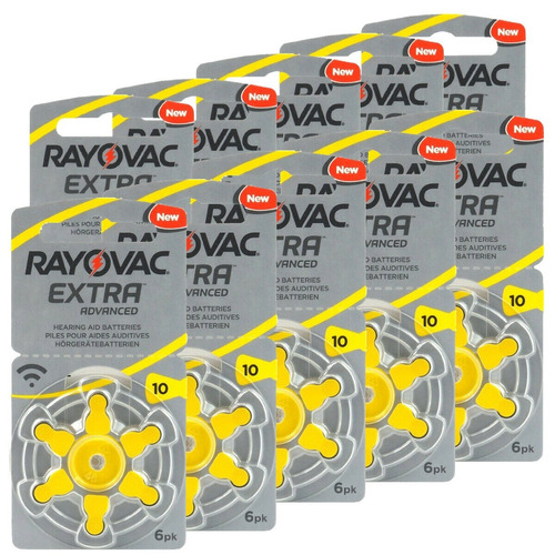Pilas Audifonos Rayovac Nº10 L10 Caja De 60 Pilas Oferta