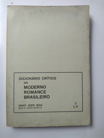 Livro - Dicionário Crítico Do Moderno Romance - Incompleto