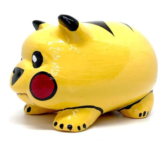 Alcancía Pikachu Cerdito Puerquito Barro Cerámica