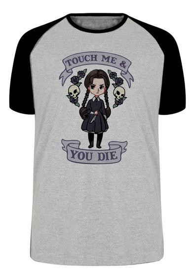 Camiseta Blusa Plus Size Touch Me You Die Dead Menina Faca