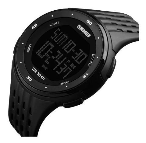 Relógio Masculino Skmei Digital 1219 Preto Com Caixa