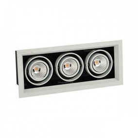 Kit 9 Spot Led 3x12w Decoracao Arq Recuado Fundo Preto