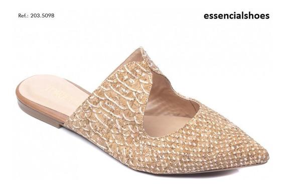 Mule Torricella Crocô P/entrega Moda Verão Essencialshoes.