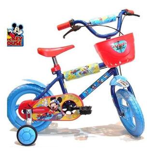 Bicicleta Rodado 12 Con Canasto Y Estabilizador
