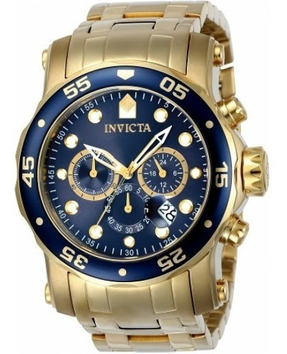 Relógio Invicta Masculino Pro Diver 23650 - Banhado A Ouro