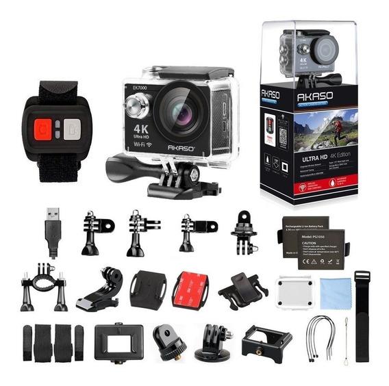 Câmera Esportes De Ação Ultra Akaso Ek7000+ Sd 16g + Bolsa