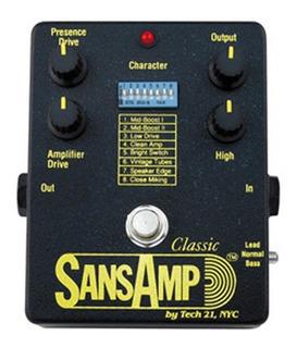 Tech 21 Pedal Sansamp Classic Sa1 Preamp Modelador