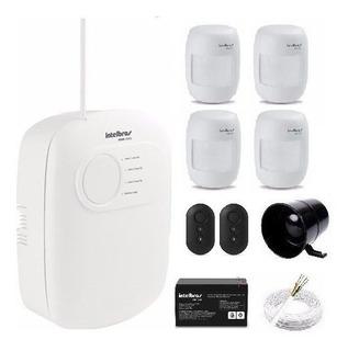 Kit Alarme Intelbras Anm2003 3 Zonas Com 4 Sensores Com Fio