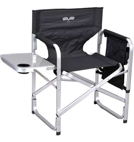 Elegante Silla Plegable Aluminio Acampar Director Chair Ant