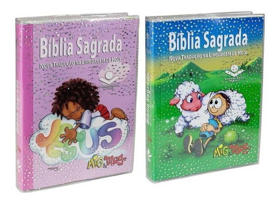 Bíblia Sagrada Mig E Meg Kit Com Duas = Masculina E Feminina