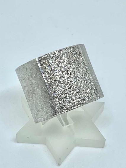 Glitter - Anel Ouro Branco 106 Diamantes E 15 Gramas Lindo!!