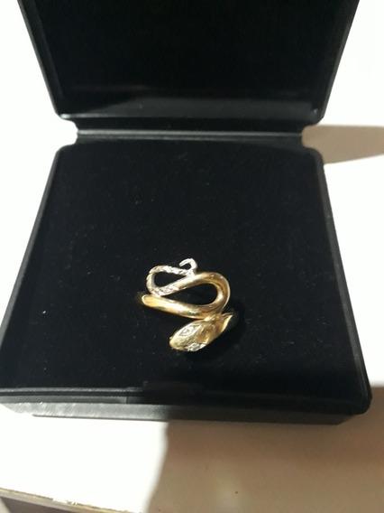 Lindo Anel Em Forma Forma De Serpente Ouro18k 750 Amarelo