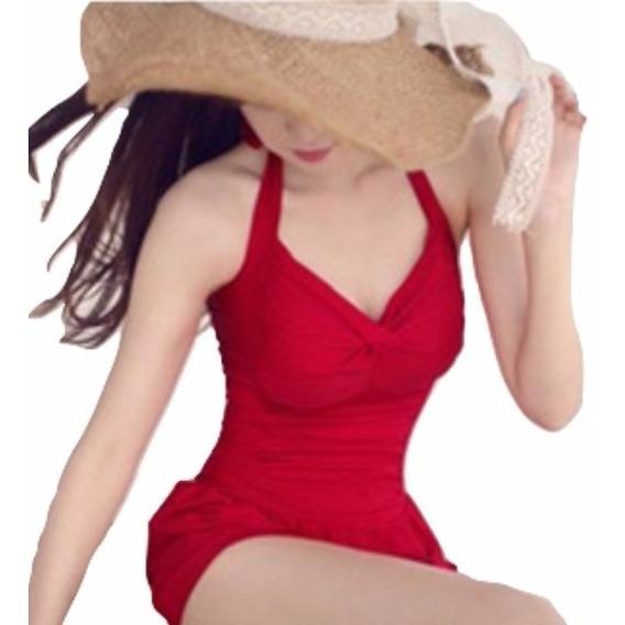 Hermoso Traje De Baño Completo Tipo Vestido Bikini Mujer