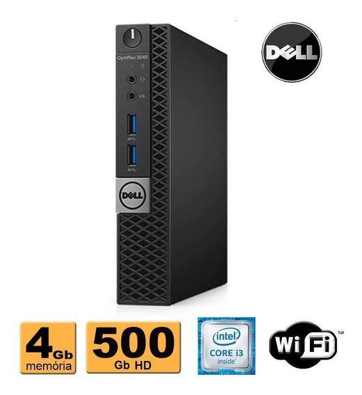 Mini Pc Dell 3040 Core I3 6100t 4gb 500gb Wifi Promoção