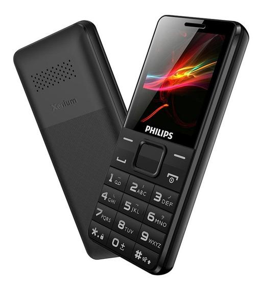 Celular Philips E107 Tft 1,77 4mb 1000mah Dual Sim Preto