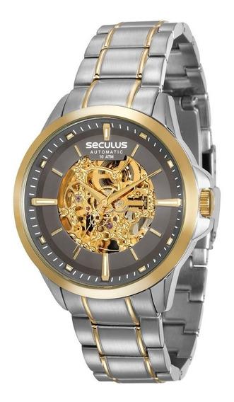 Relógio Seculus Masculino Prata Automático 20552gpsvba2