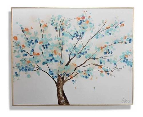 Imagen 1 de 4 de Cuadro Decorativo Árbol Aqua Naranja Këssa Muebles