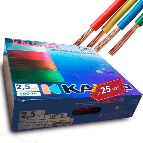 Imagen 1 de 8 de Cable Unipolar Kalop 2.5mm Normalizado Iram Categoria 5