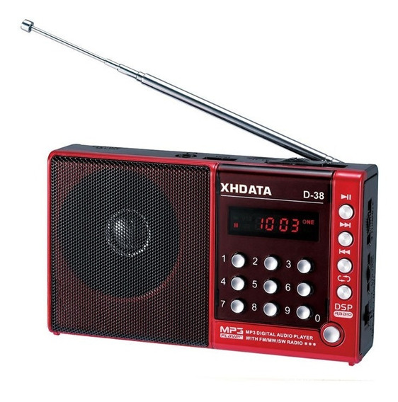 Rádio Receptor Xhdata D-38 Am/fm/sw/mp3 Player Com Dsp