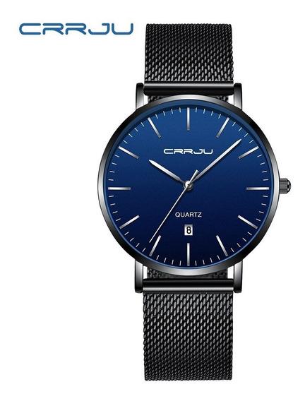 Relógio Masculino Crrju 2270 - Ultra Fino- (pronta Entrega)